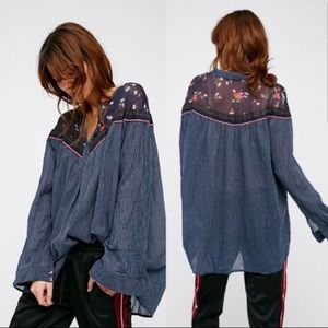 Free People | Hearts & Colors Navy Tunic | L